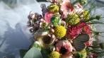Détail sur un bouquet de mariée