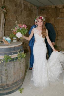 la mariée : bouquet et couronne