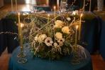 composition centre de table mariage hivernal