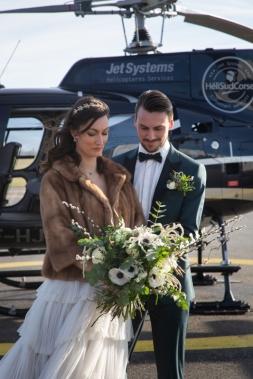 les mariés bouquet et boutonnière
