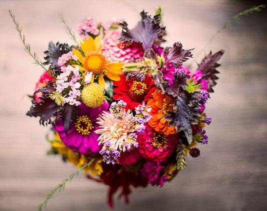 Bouquet de fleurs locales
